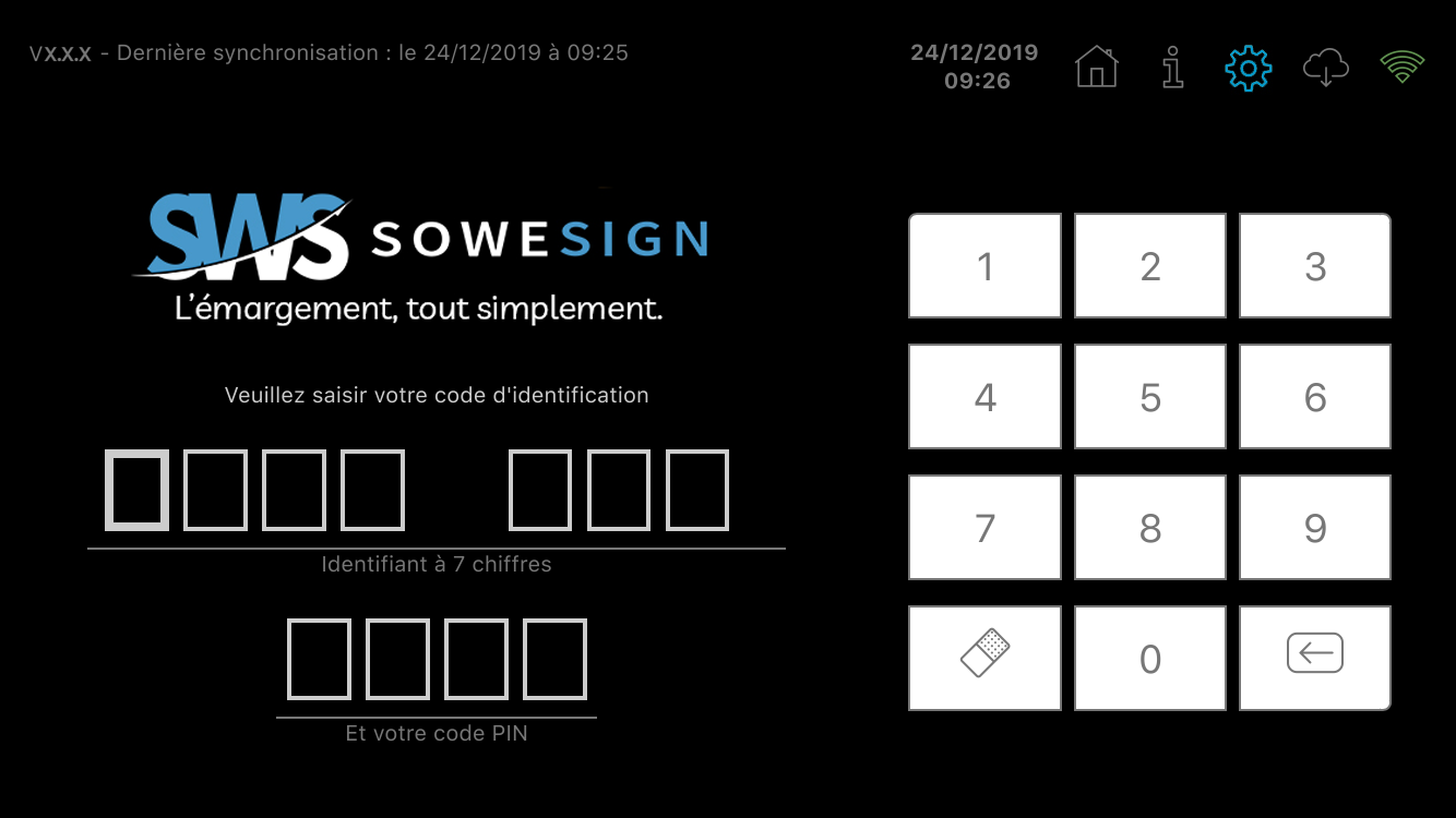 Ecran connexion SoWeSign