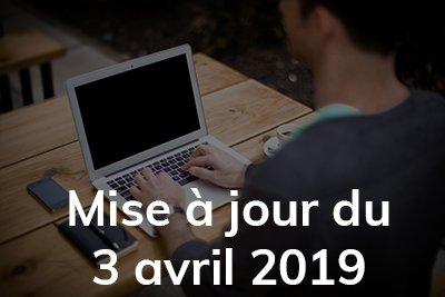 Mise à jour avril 2019
