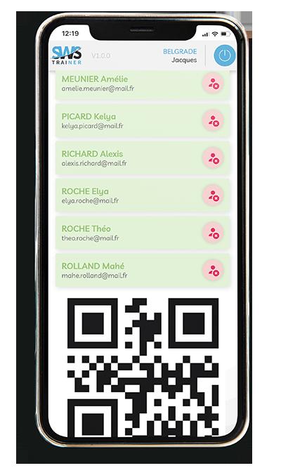 Application émargement formateur QR Code